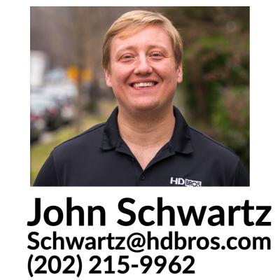 HDBROS Baltimore MD John Schwartz Contact Card